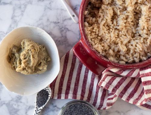 #oggihotrovatoinfrigo: crema di sedano rapa e castagne e riso integrale