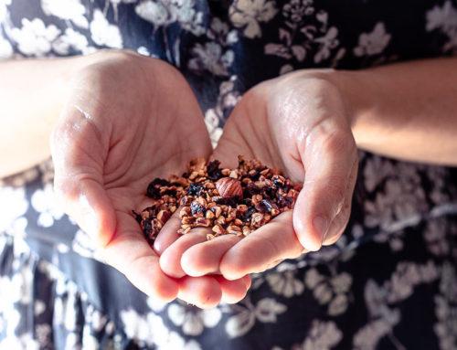 Granola fatta in casa alla marmellata (di ciliegie)