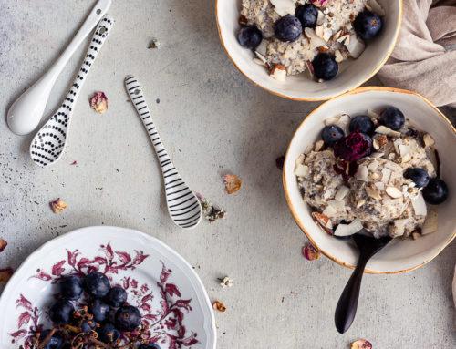 Porridge uva fragola e cocco + una mini guida