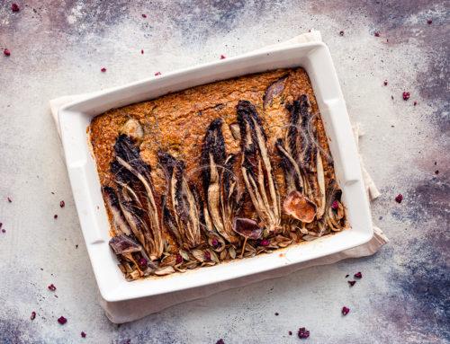 Torta salata soffice alla zucca (e radicchio)