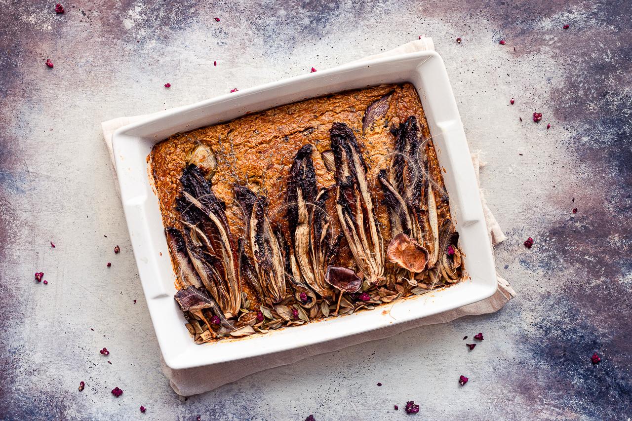 ricetta torta salata zucca (e radicchio)