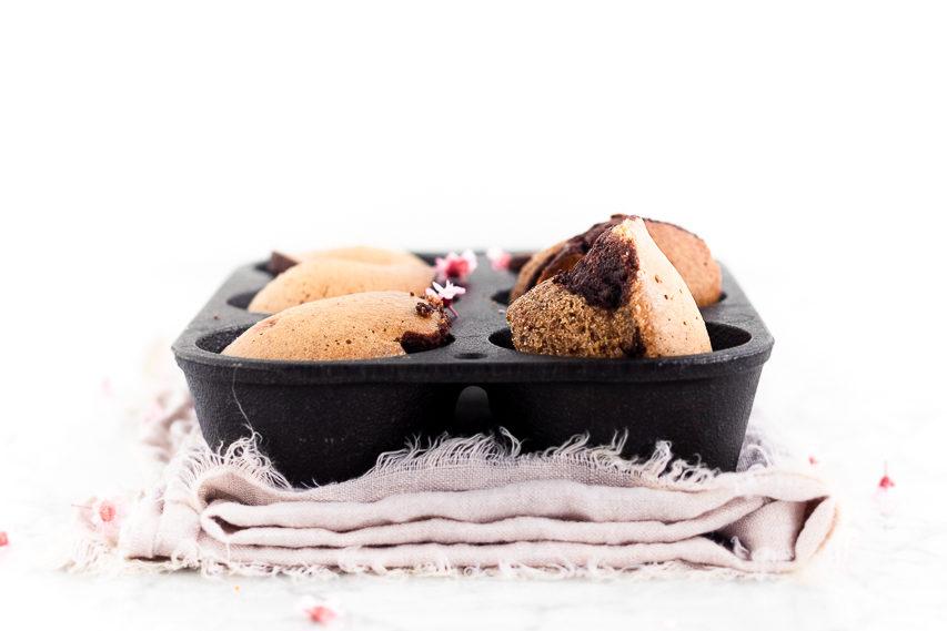 Ricetta di muffin bicolore golosi e leggeri