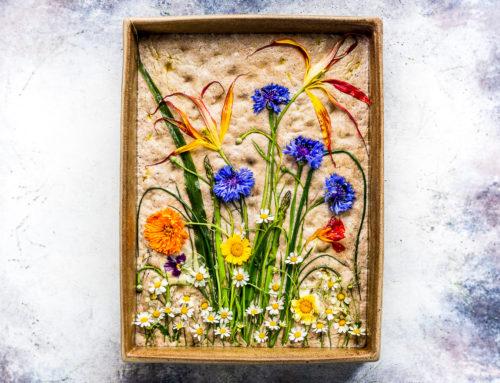 Flower focaccia di grani antichi