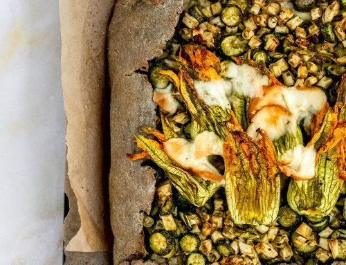 """Galette """"briosciata"""" alle verdure estive"""